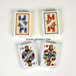 Decks of cards Red horses and Blue horses